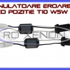 ANULATOR, ANULATOARE EROARE CANBUS BEC ARS POZITIE, NUMAR INMATRICULARE T10 W5W - 5W 47 Ohm - PENTRU LED LEDURI AUTO