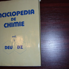 Acad. dr. ing. ELENA CEAUSESCU - ENCICLOPEDIA DE CHIMIE vol. V * - Carte Chimie