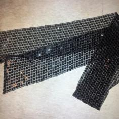 Esarfa dama lungime 150 cm, latime 11 cm, neagra, ca noua - Esarfa, Sal Dama, Culoare: Din imagine, Marime: Alta