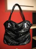 Vand geanta dama, Negru, Asemanator piele, Mare
