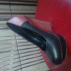 Pantofi cu platforma - Pantof dama, Culoare: Negru, Marime: 36, Negru, Cu toc