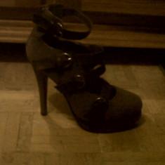Pantofi marimea 37 leonardo. - Pantof dama, Culoare: Gri, Cu toc