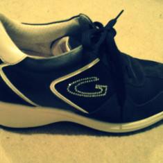 Adidasi Dama Alberto Guardiani Sport marime 36, Culoare: Negru, Negru
