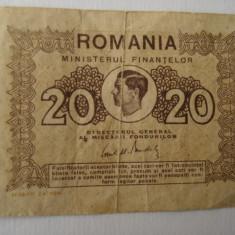 Bancnota (bilet ) -20 lei - 1945 - Bancnota romaneasca