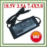 INCARCATOR LAPTOP HP 18,5 V - 3,5 A - mufa 7,4 x 5 mm cu piciorus, Incarcator standard