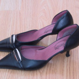pantofi de dama smile, piele naturala, marime 36, pret 49 ron