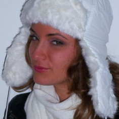 Caciula ruseasca alba, Alb, One size