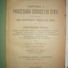 Adolf Stern - Procedura Codicelui Civil - 1890 - Carte Drept procesual civil