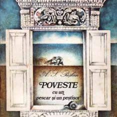 POVESTE CU UN PESCAR SI UN PESTISOR de A.S. PUSKIN (1982) - Carte poezie copii