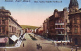 Ok-1259- Ro, Kolozsvar, Cluj, c.p. necirc.1917: Calea Regele Ferdinand, anim., Cluj Napoca, Necirculata, Fotografie