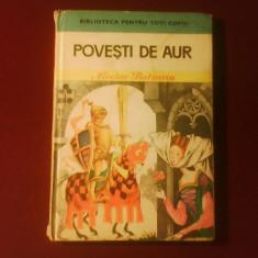 Nicolae Batzaria, Povesti de aur, Desenul copertei si plansa de Livia Rusz - Carte de povesti