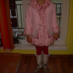 Geaca iarna fetite, Culoare: Roz
