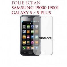 3X FOLIE/FOLII PROTECTIE ECRAN SAMSUNG I9000 GALAXY S PLUS I9001 (SET 3 BUC) - LIVRARE GRATUITA IN TARA!!! - Folie de protectie