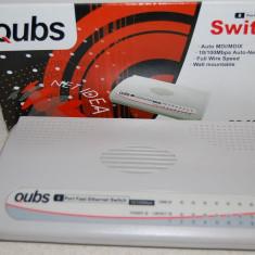 QUBS SWITCH 8 PORTUR 10/100 Mbps, Auto MDI/MDIX