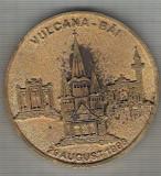 C335 Medalie Centrul National Ecumenic -Vulcana-Bai -1998 Romania -marime cca 62 mm, greutatea aprox 58 gr. -starea care se vede