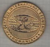 C336 Medalie Centrul National Ecumenic -Vulcana-Bai -1998 Romania -marime cca 62 mm, greutatea aprox 54 gr. -starea care se vede