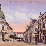 Ok-1269- Romania, Dej, c.p. necirc. aprox.1915: Hotel Hungaria, magazine, animat