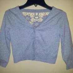 Bluza din bumbac de la Take out, fete 8-9 ani, ca noua, Culoare: Gri