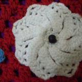 Geanta (gentuta) handmade (facuta de mana, crosetata), captusita matase interior