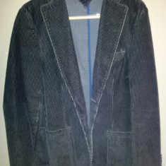 Sacou de la Tommy Hilfiger, masura 50 (L), ca nou - Sacou barbati Tommy Hilfiger, Culoare: Khaki, 2 nasturi, Lung, Bumbac