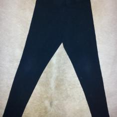 Pantaloni negri de la Zara Kids, fete 7-8 ani, din bumbac si elastan, ca noi