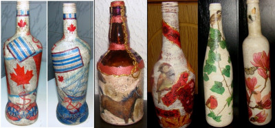 Sticle decorate foto