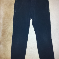Pantaloni negri de trening bumbac, fete 7-8 ani, ca noi