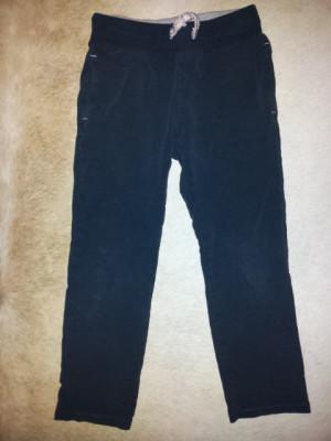 Pantaloni negri de trening bumbac, fete 7-8 ani, ca noi foto