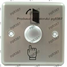 Push buton metalic fara retinere, antivandalism, cu suport-124779