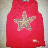 Bluza deosebita roz din bumbac de la For girls, fete 2-3 ani, noua