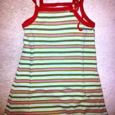 Rochita de vara din bumbac fete 2 ani, usor folosita, Culoare: Din imagine