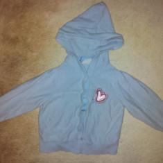 Bluza din bumbac cu gluga bleu de la Liz Claiborne, fete 2 ani, ca noua