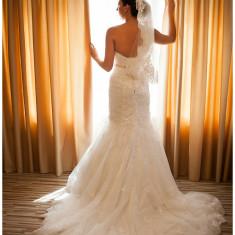 Rochie Mireasa Sirena Magic Bride Batuta in cristale swaroschi - Rochie de mireasa sirena