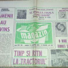 Ziarul magazin 14 octombrie 1972 (finala cupei davis )