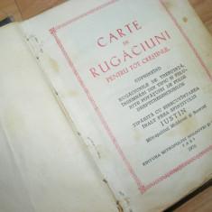 CARTE VECHE DE RUGACIUNI,Complexa ,COPERTI GROASE,STARE COMPLETA
