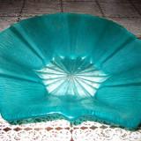 Fructiera sticla cu forma de stea verde-27_23 cm.