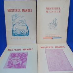 VINTILA HORIA [REDACTOR ] - MESTERUL MANOLE/REVISTA LUNARA DE LITERATURA / 4 NUMERE / 1939-1940