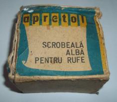Apretol - scrobeala alba pentru rufe (epoca de aur, perioada comunista, apretat) foto