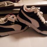 De vanzare adidasi Puma, copii, # 31.1/2, culoare negru + alb