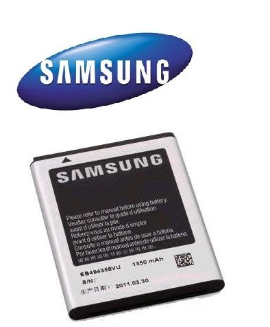ACUMULATOR SAMSUNG Galaxy Fit S5670 ORIGINAL NOU MODEL EB494358VU Li-Ion 1350mA  BATERIE TELEFON MOBIL ORIGINAL foto mare