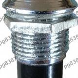 Indicator cu bec, 6, 3V, 13x27mm, alb - 124823