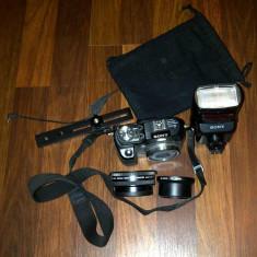 * Camera Profesionala SONY DSC-V3 + Blitz Extern HVL F32X + Lentile MACRO + Trepied - DSLR Sony
