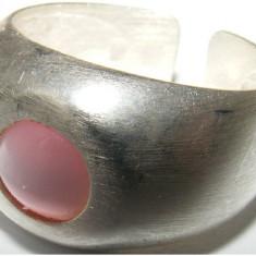 Inel vechi din argint cu piatra lunii - de colectie