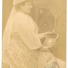 963 - Banat, Arad, ETHNIC woman, port popular - old postcrd, real PHOTO - unused - Carte Postala Banat 1904-1918, Necirculata, Fotografie
