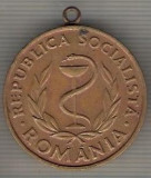 "C429 Medalie -,,MEDALIA MERITUL SANITAR"" -RSR -marime 30x34 mm, gr. aprox 14 gr.-starea care se vede"