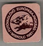 C449 Medalie vanatoate -Concurs European deTir Talere in Camp -Miskolc 1981 -Ungaria -marime 39x39 mm, gr. aprox 8 gr.-starea care se vede