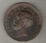 C412 Medalie -Serbarea Proclamarii Regatului -10 Maiu 1881 -CAROL I Rege al Romaniei -marime cca 58 mm, gr. aprox 105 gr. -starea care se vede