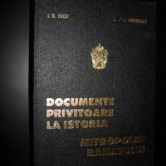 I.D. Suciu, Radu Constantinescu, Documente privitoare la istoria Mitropoliei Banatului - Carti Istoria bisericii