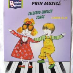 """O LIMBA MODERNA PRIN MUZICA - SELECTED ENGLISH SONGS"", Nina Pascale, 2007 - Carte educativa"