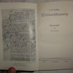 Tolstoi WELTANSCHAUUNG Gutenberg Verlag fara data in germana caractere gotice cartonata - Eseu
